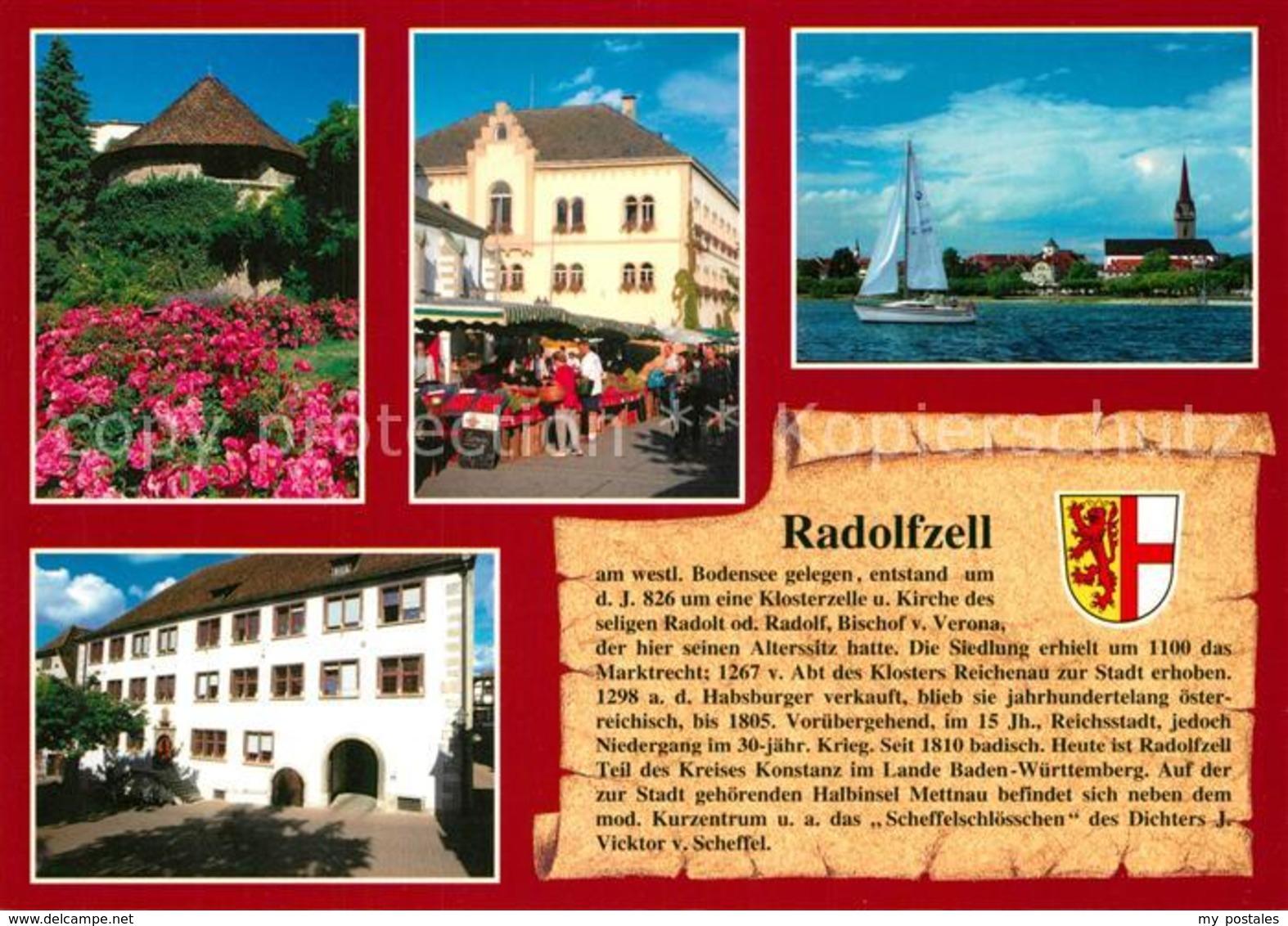 73213370 Radolfzell_Bodensee Pulverturm Rathaus Muenster UL Frau Ritterschaftsha - Radolfzell