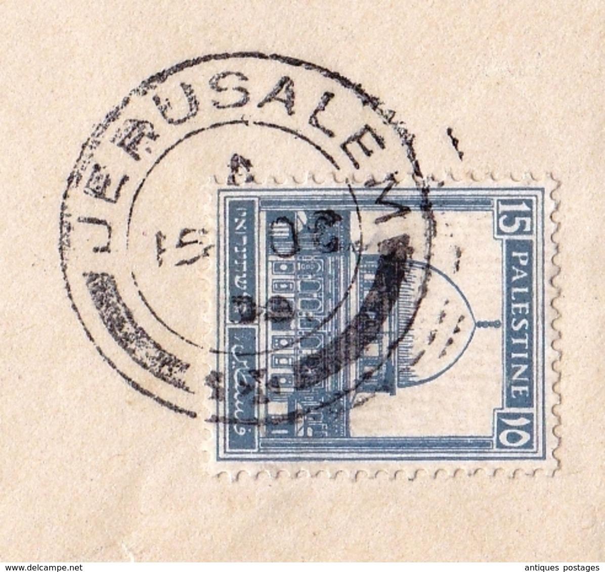 Lettre Jérusalem Palestine 1934 Israel Giornale D'Orient Alexandrie Alessandria Egypt Egypte Jerusalem - Palestine