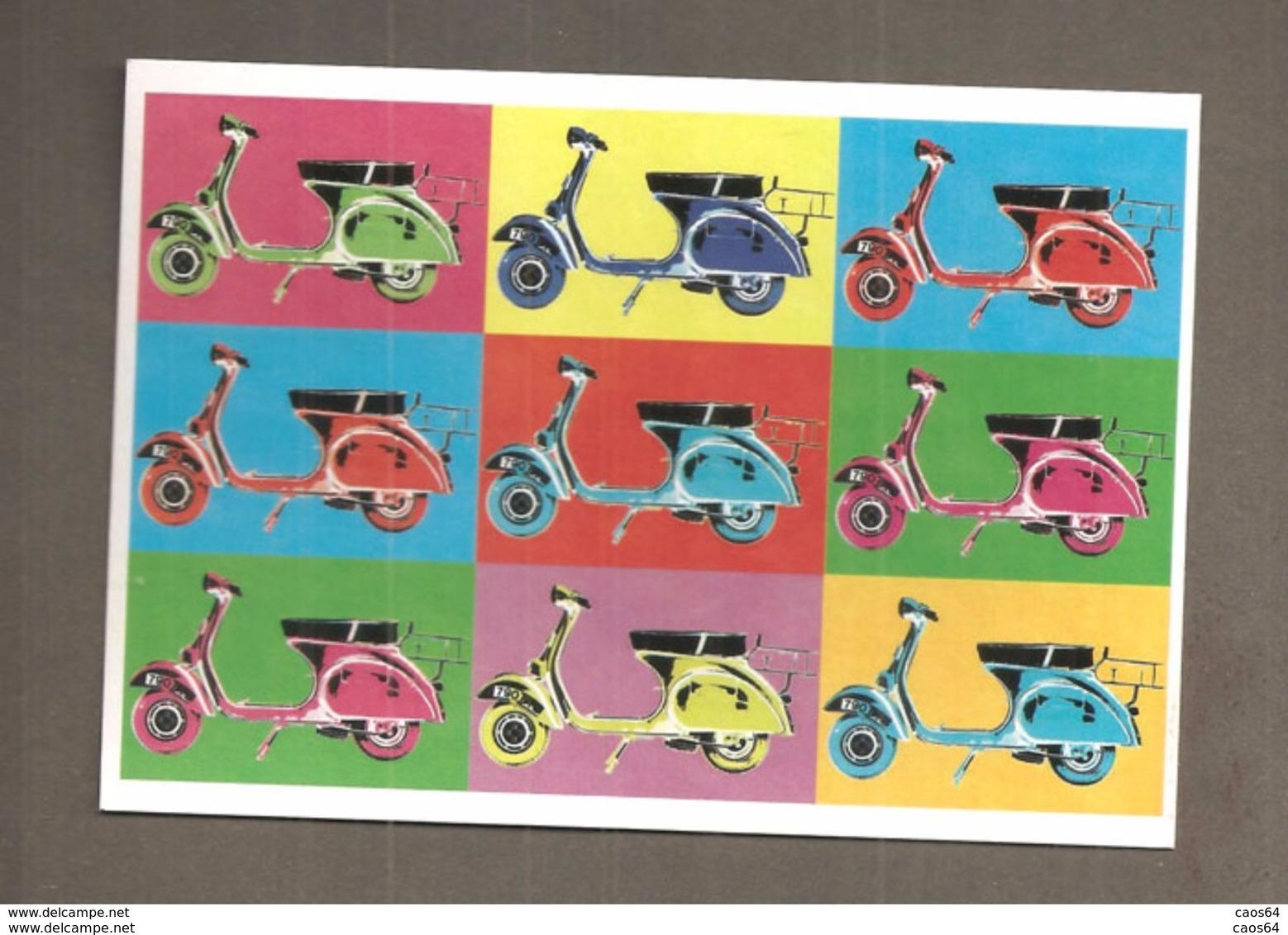 VESPA   RIPRODUZIONE CARD CARTOLINA - Motor Bikes