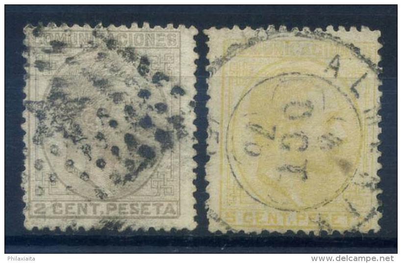 Spagna 1878 Mi. 166-167 Usato 20% Re Alfonso XII - 1875-1882 Kingdom: Alphonse XII