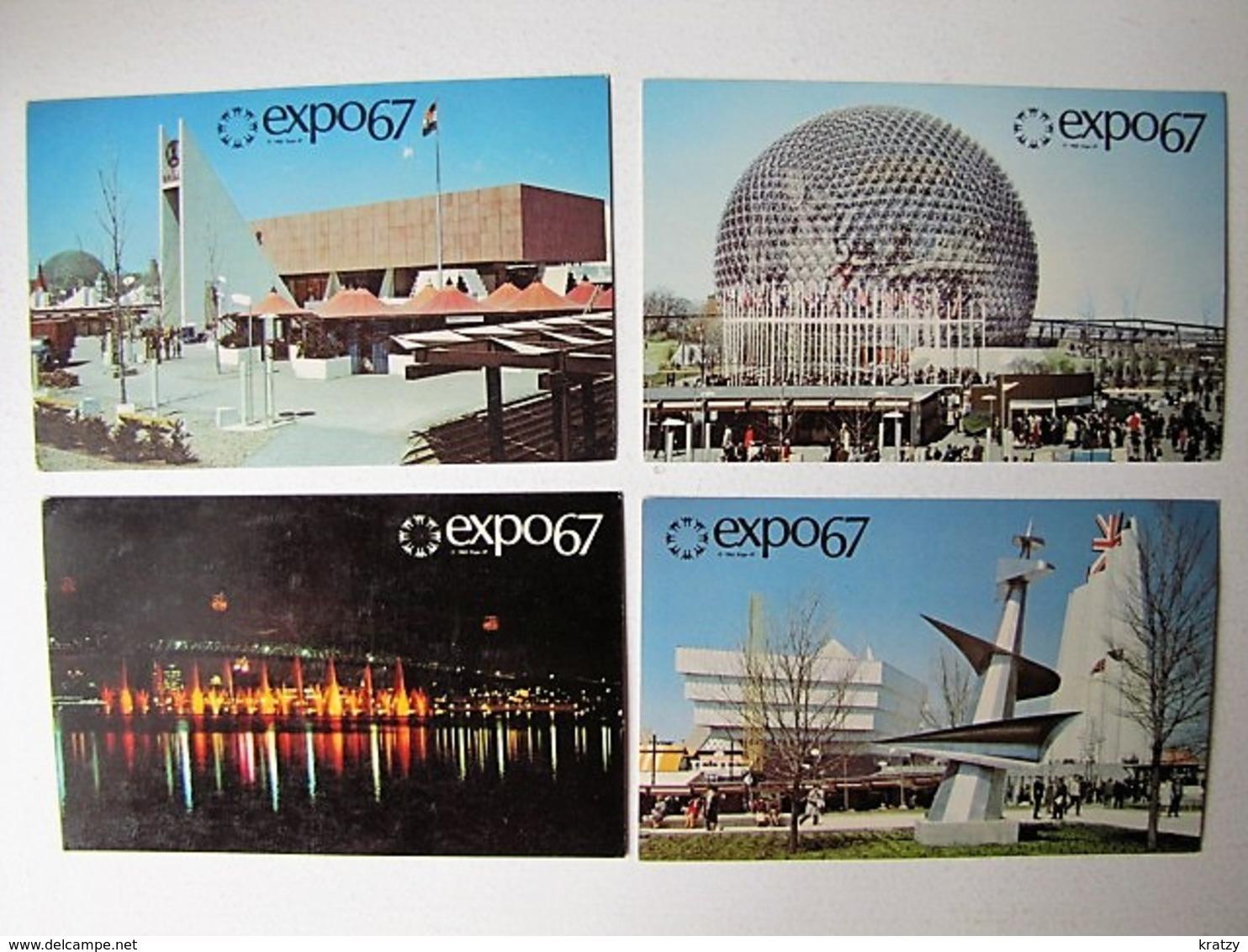 CANADA - LOT DE 10 Cartes De L'Exposition Internationale Montréal' 67 - Postcards