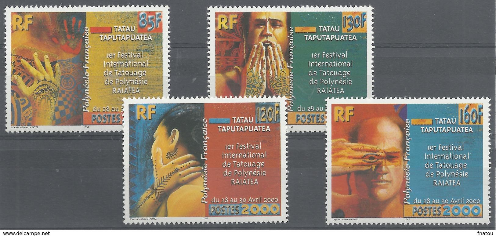 French Polynesia, Tatoo Festival, Raiatea (Society Islands), 2000, MNH VF - Unused Stamps