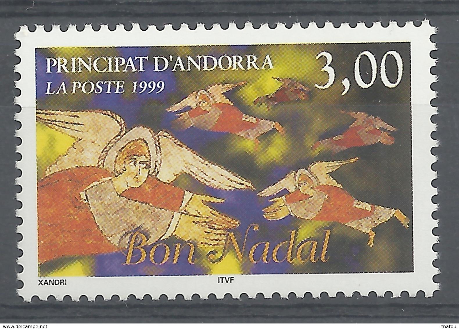 Andorra (French Adm.), Christmas, 1999, MNH VF - French Andorra