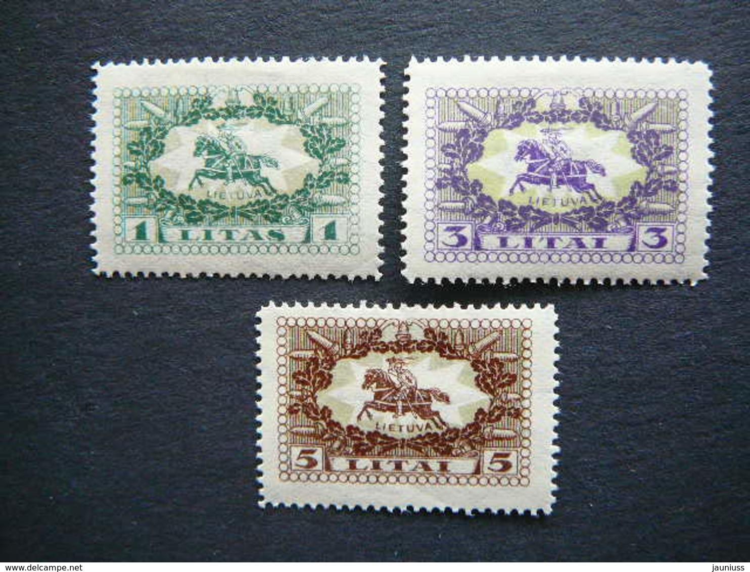 Lietuva Litauen Lituanie Litouwen Lithuania # 1927 MH # Mi. 278/0 Horses - Lithuania