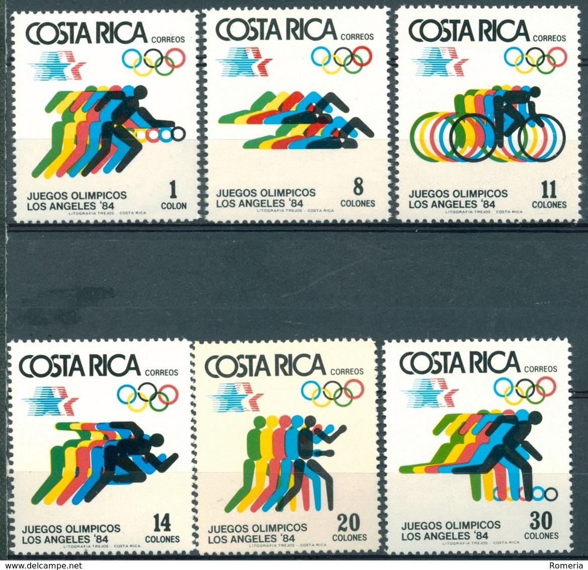 Costa Rica - 1984 - Yt 388/393 - J.O. De Los Angeles - ** - Costa Rica