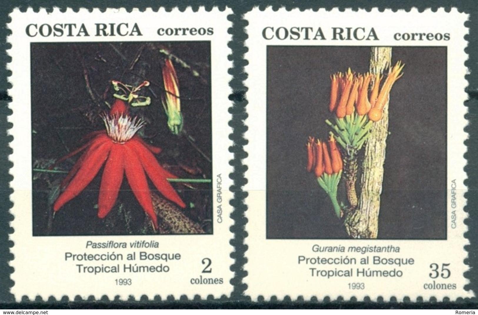 Costa Rica - 1993 - Yt 569/570 - Protection De La Forêt Humide - ** - Costa Rica