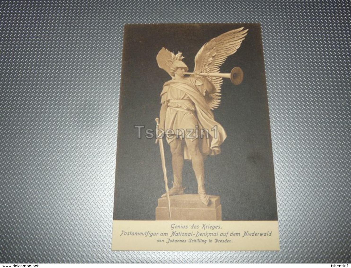 Genius Des Krieges. Postamentfigur Am National-Denkmal Auf Dem Niederwald Von Johannes Schilling In Dresden Germany - Dresden
