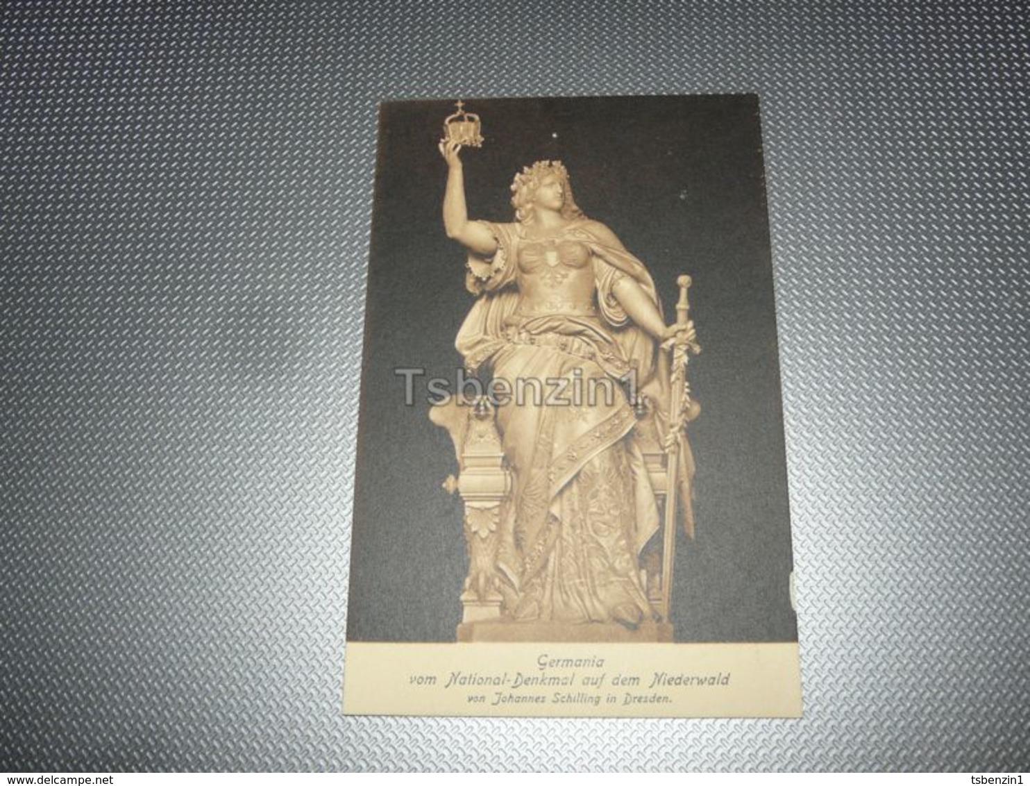 Germania Vom  National-Denkmal Auf Dem Niederwald Von Johannes Schilling In Dresden Germany - Dresden