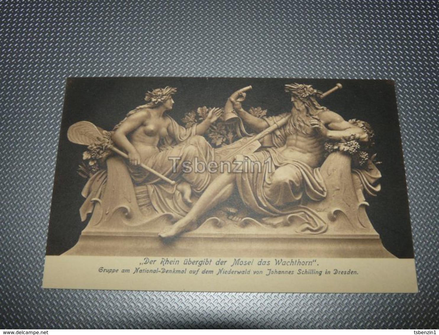 Gruppe Am National-Denkmal Auf Dem Niederwald Von Johannes Schilling In Dresden Germany - Dresden