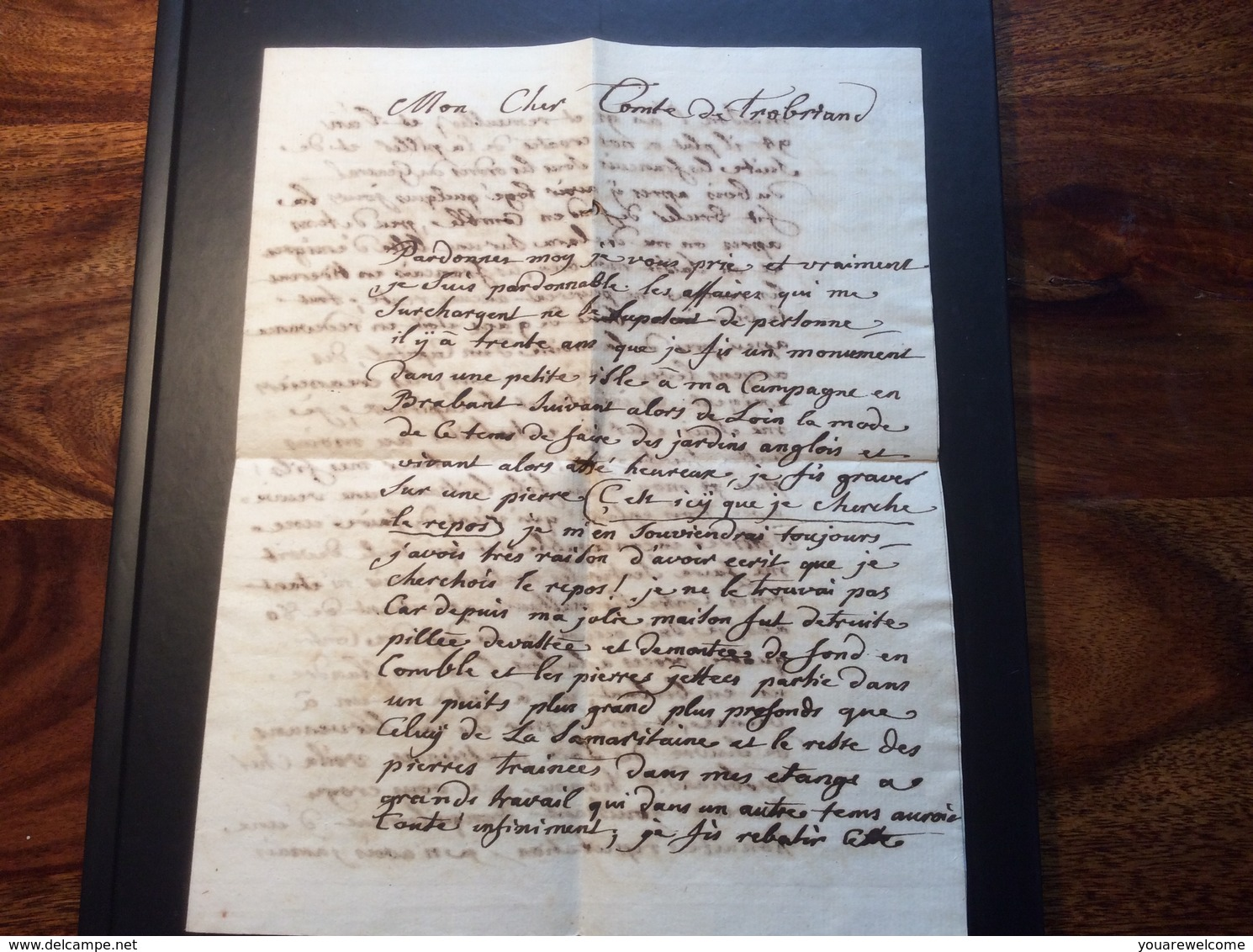 """""""DE LINZ"""" 1803 Brief > Wien """"émigré Revolution Francaise"""" (Comte De Trobriand Lettre Napoleon 1er Guerre Österreich - Österreich"""