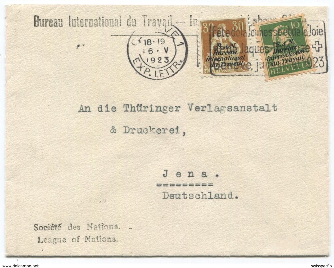 1792 - 10 + 30 Rp. BIT Mischfrankatur Auf Brief Nach JENA In Deutschland - Officials