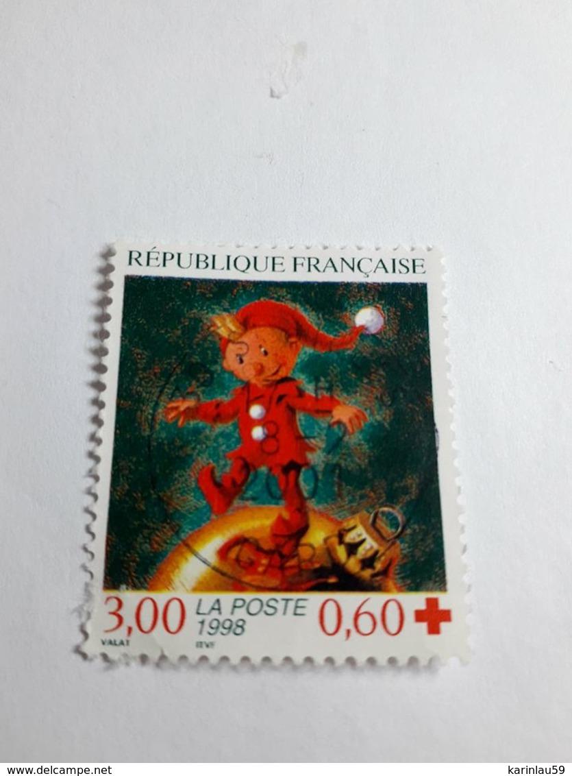 """Timbre France YT 3199 """" Croix-Rouge """" 1998 Oblitéré - France"""