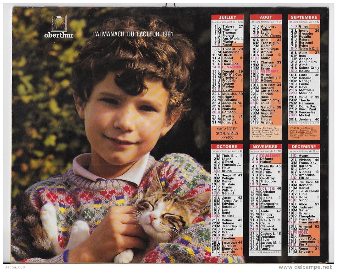 Almanach Du Facteur 1991 - Calendriers