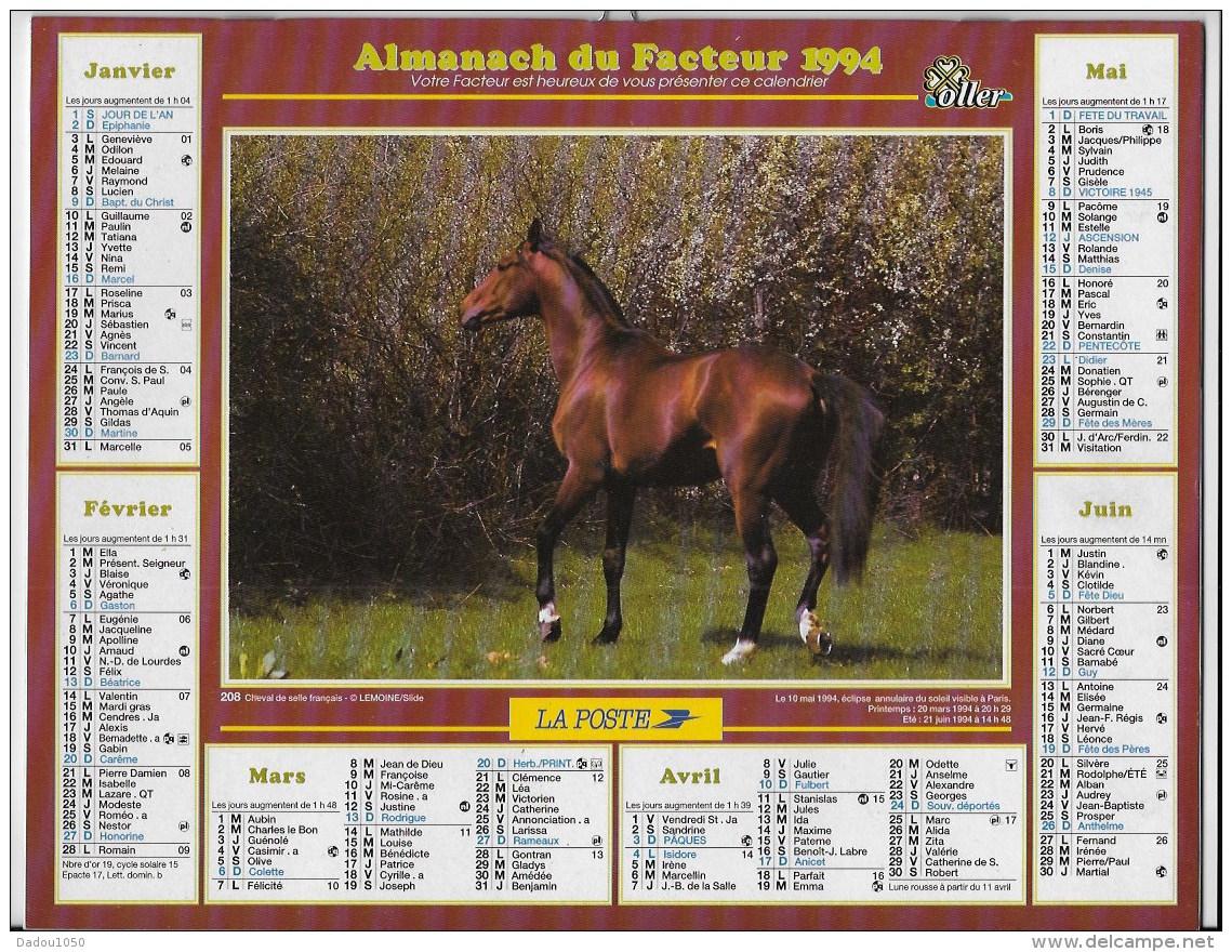 Almanach Du Facteur 1994 - Calendriers