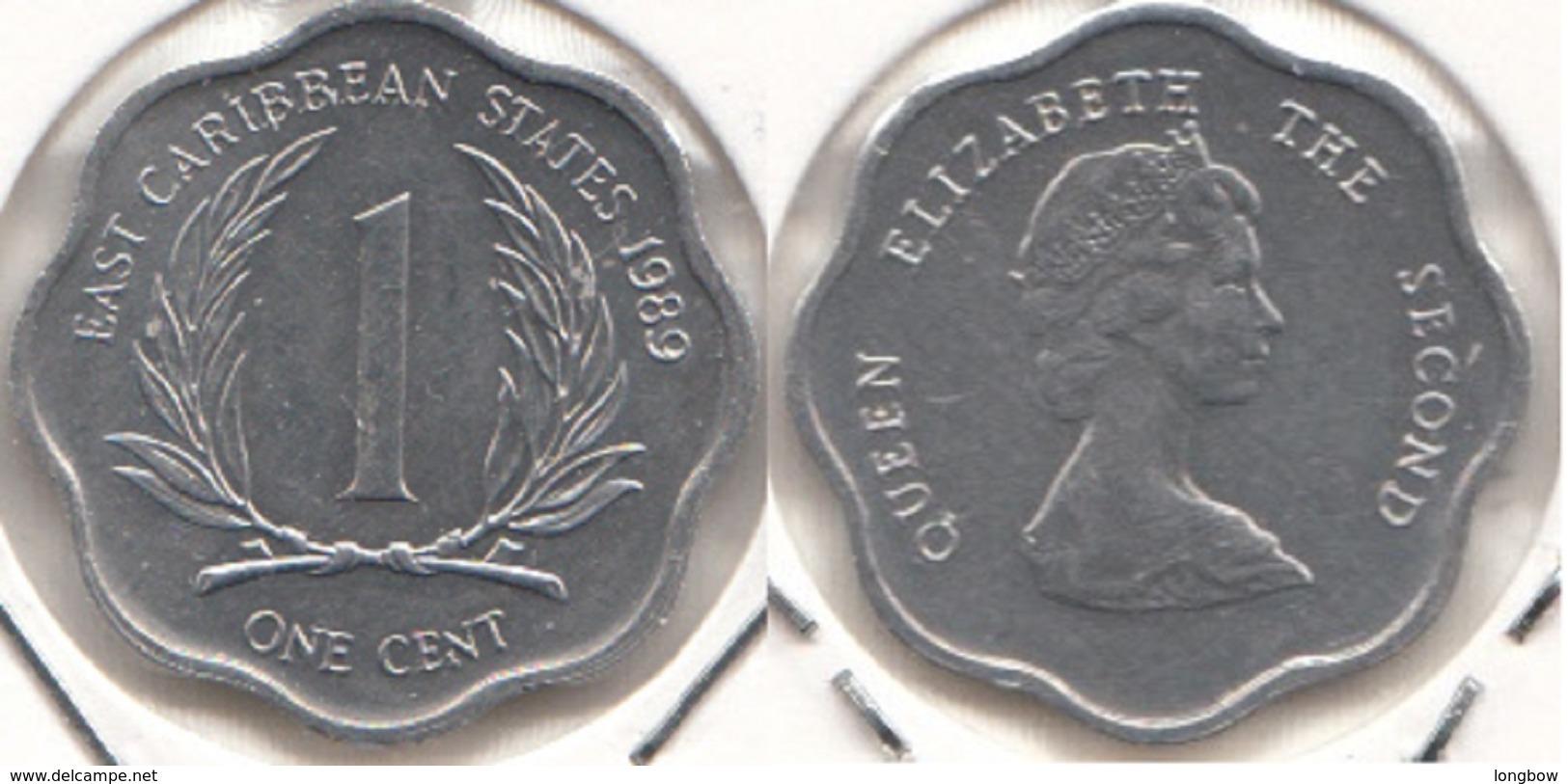 East Caribbean States 1 Cent 1989 Km#10 - Used - Caraibi Orientali (Stati Dei)