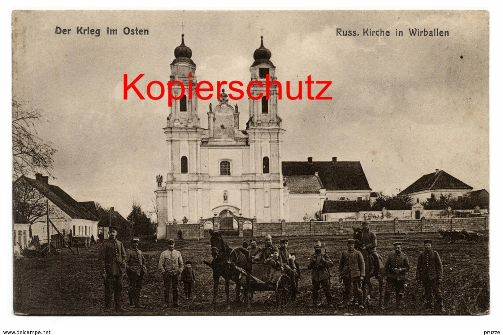 Wirballen - Virbalis Ca. 1915, Russ. Kirche - Litauen
