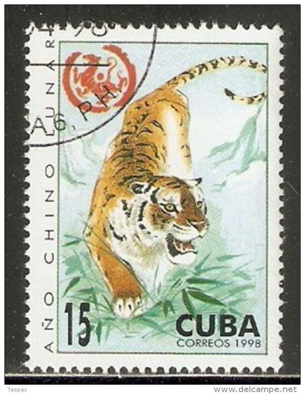 1998 Mi# 4100 Used - Year Of The Tiger - Felinos