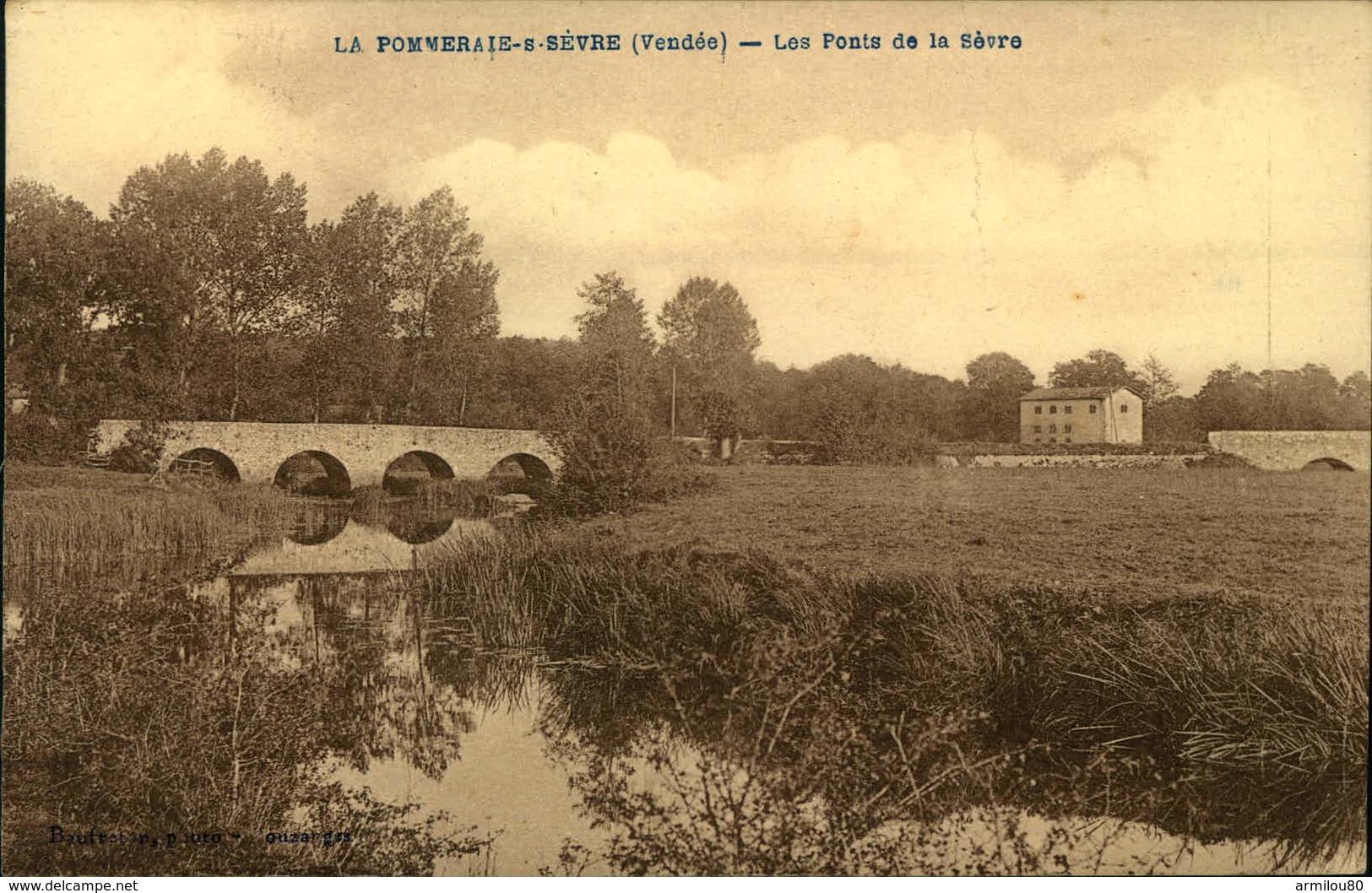 N°726 RRR GG LA POMMERAIE SUR SEVRE LES PONTS DE LA SEVRE  LEGERES PLIURES - Autres Communes