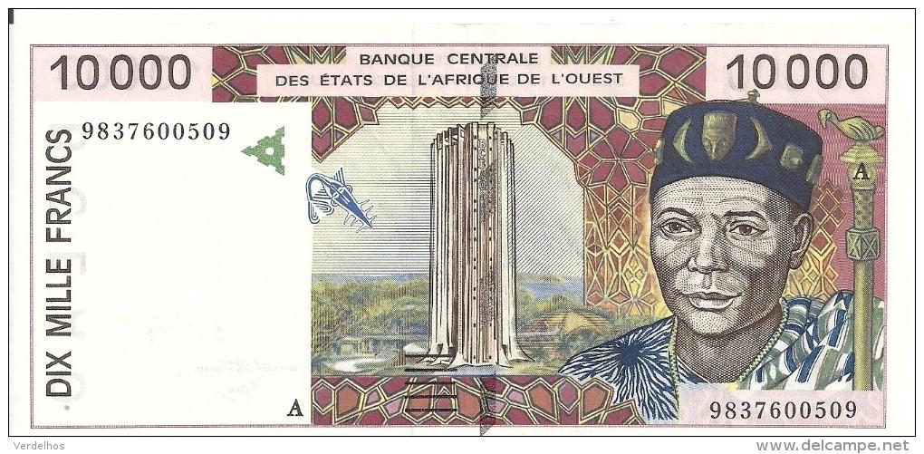 COTE D'IVOIRE 10000 FRANCS ND1998 XF P 114A G - Côte D'Ivoire