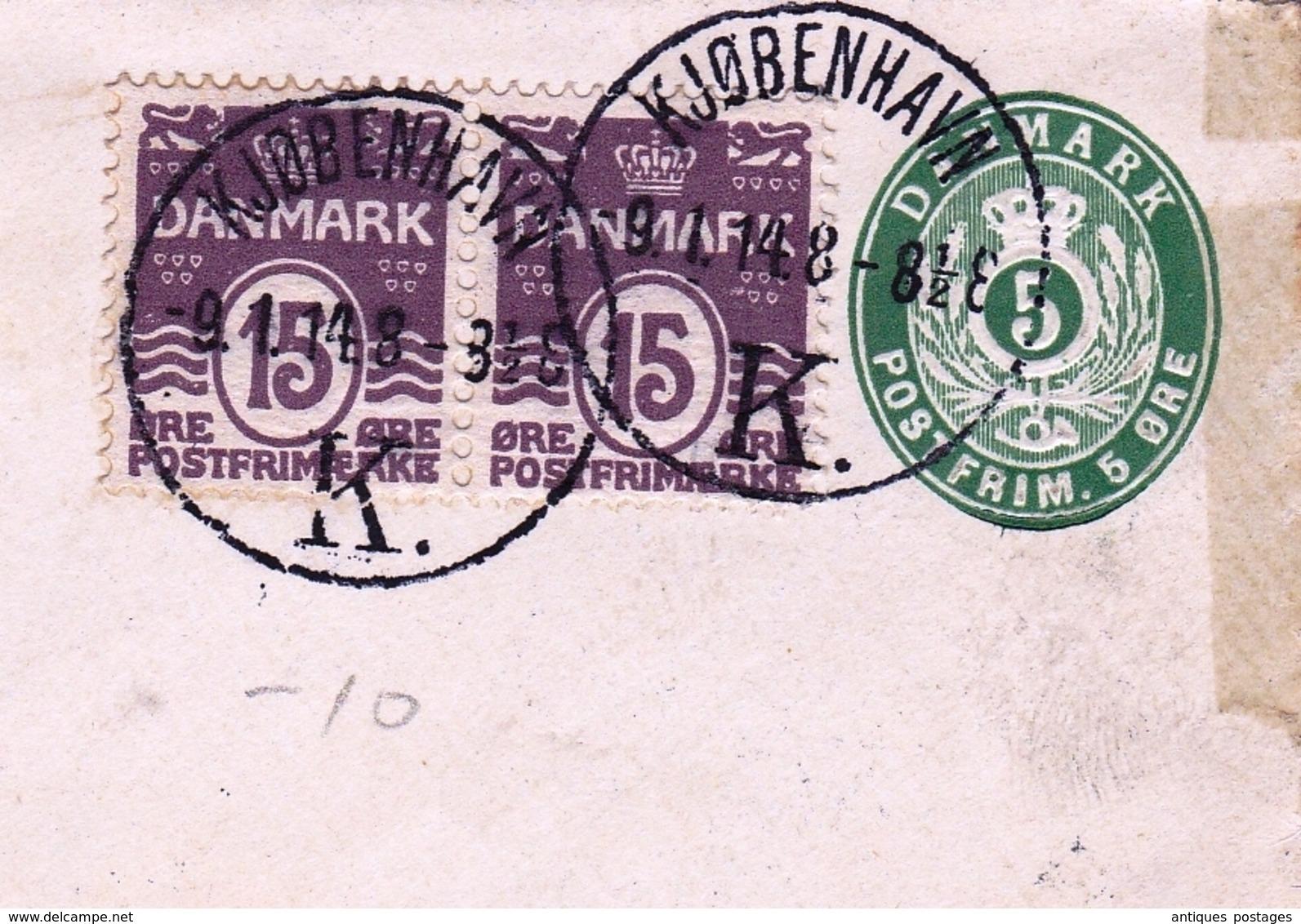 Lettre København Danemark Danmark Copenhague Plauen Sachsen - Postwaardestukken