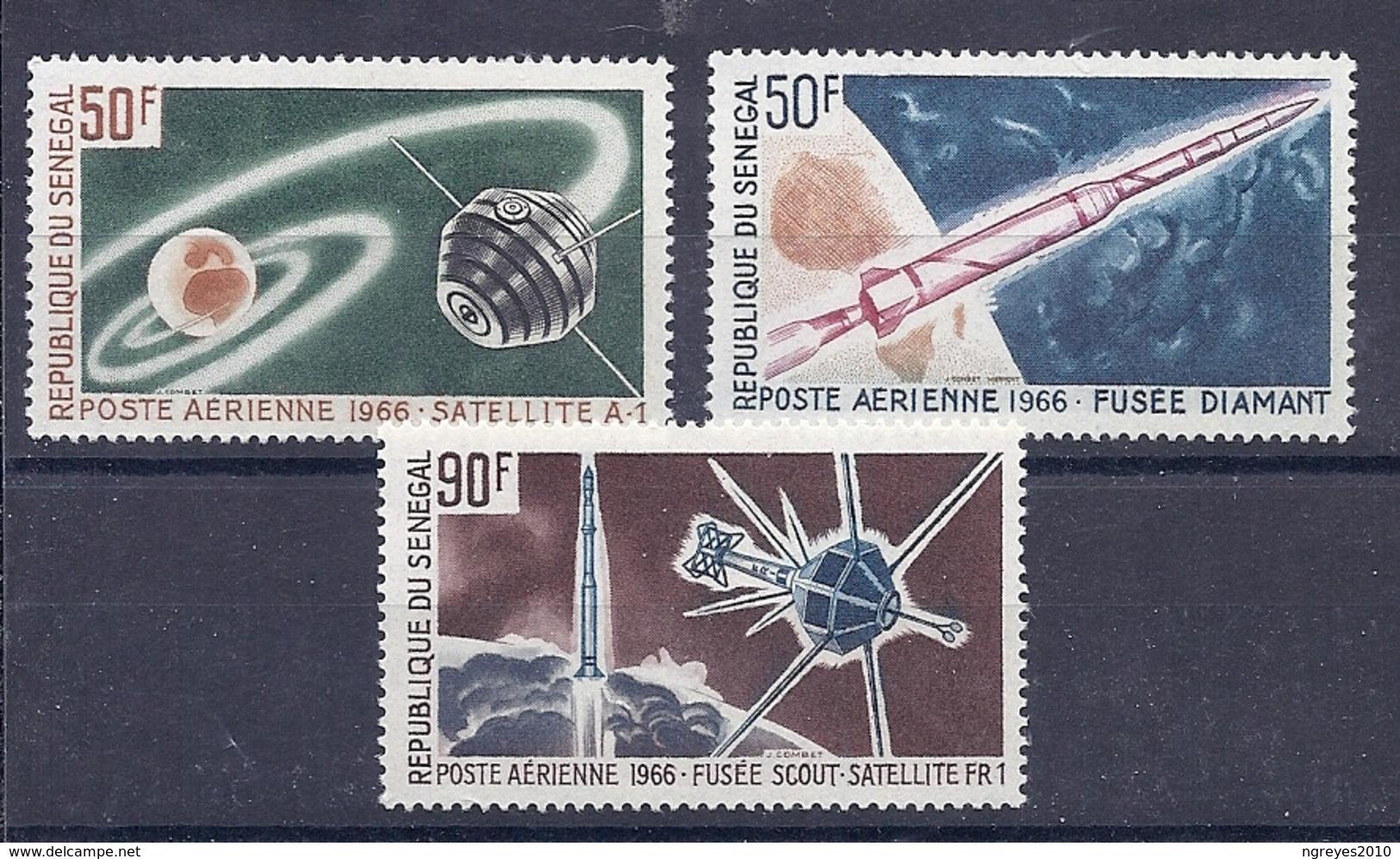 180027930  SENEGAL  YVERT  AEREO  Nº  49/51  **/MNH - Sénégal (1960-...)