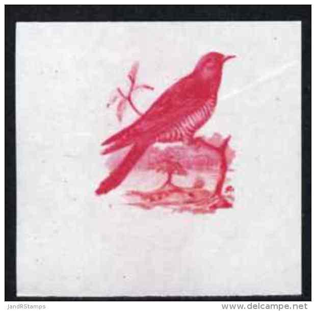 78610 Calf Of Man 1973 Birds - Cuckoo 12m Imperf Proof In Magenta Only On Gummed Paper, Unmounted Mint As Rosen CA258 - Cuckoos & Turacos