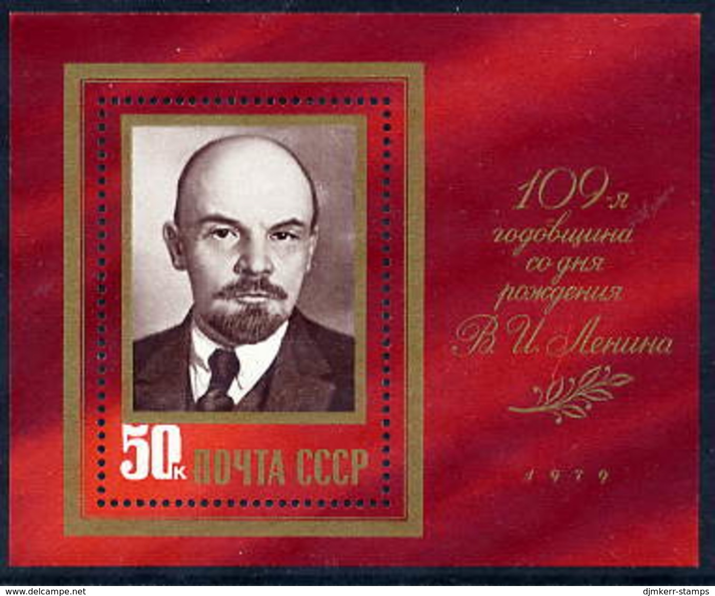 SOVIET UNION 1979 Lenin Birth Anniversary Block MNH / **.  Michel Block 138 - 1923-1991 USSR