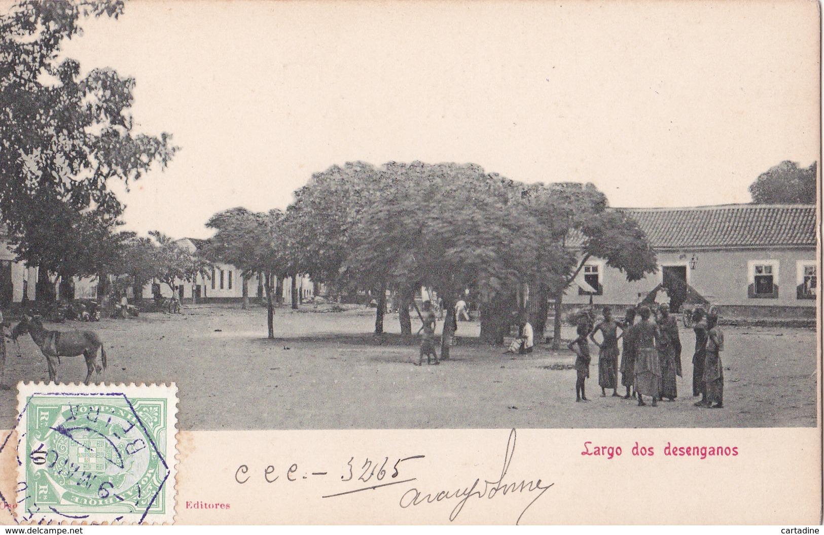 CPA - ANGOLA - Largo Dos Desenganos - 1907 - Angola