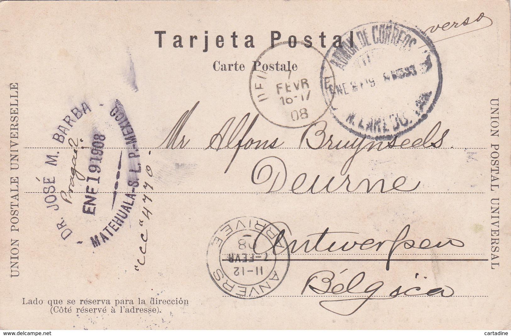 CPA - Mexique/ Mexico -  Veracruz - El Zocalo Y La Parroquia - 1908 - Mexique