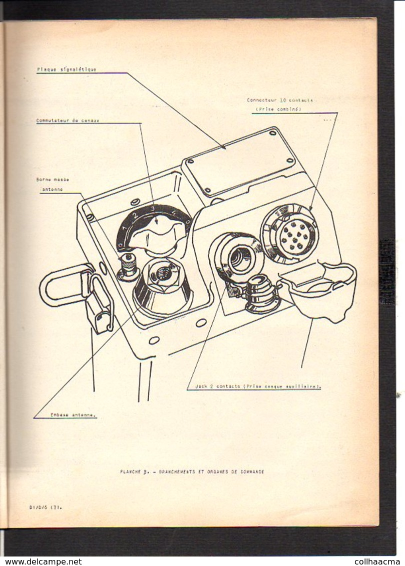 Militaria / Notice D'utilisation De L'Emetteur-Recepteur Portatif TR-PP-1- B Destiné Aux F.A./C.M. Et E.O.R.II / Enca - Radio