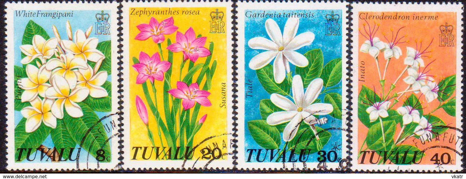 TUVALU 1978 SG #101-04 Compl.set Used Wild Flowers - Tuvalu