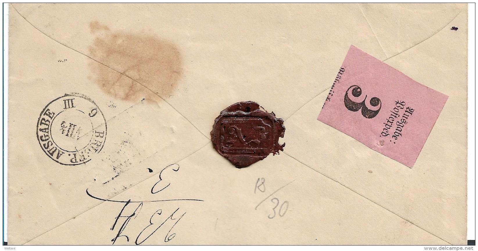 NDP076 / Norddeutscher Postbezirk, Paket Begleitbrief Mit Kassel F-Stempel Nach Dresden 1870 - Norddeutscher Postbezirk