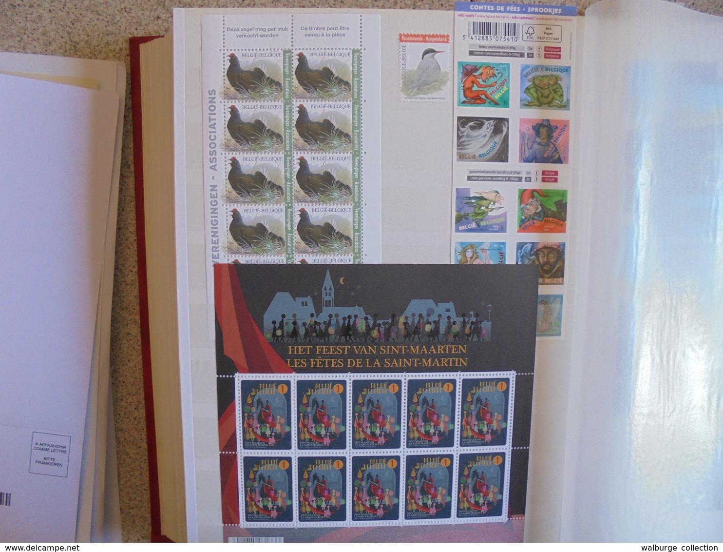 BELGIQUE 2009-2016(TOUT EN NEUF) +- 1350 EURO DE FACIALE !!! (2119) 2 KILOS 300 - Collections