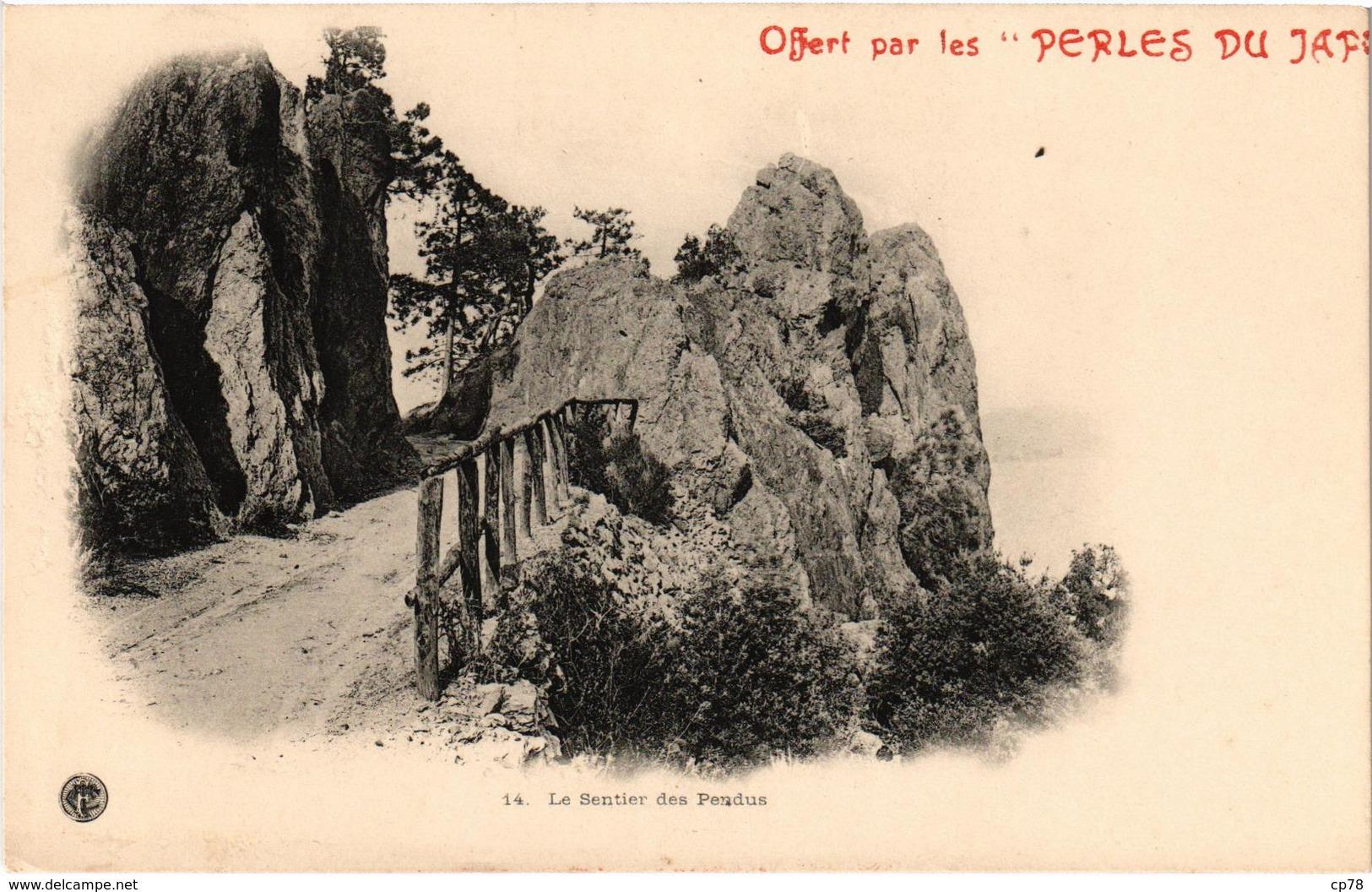 Carte PUB PERLES DU JAPON MANDELIEU LA NAPOULE (06) Sentier Des Pendus - Collection Touring Club De France Précurseur - France