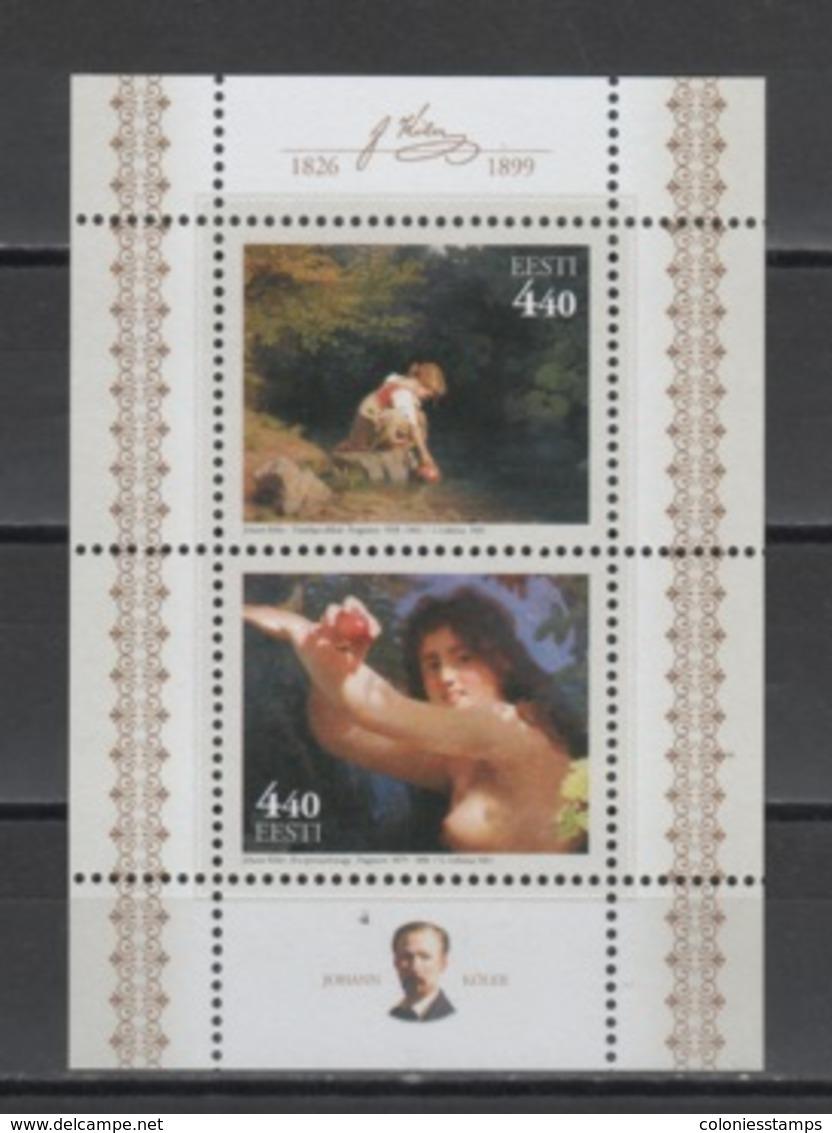 (S1896) ESTONIA, 2001 (Paintings Of Johann Köler). Souvenir Sheet. Mi ## 394-395 (B15). MNH** - Estonia