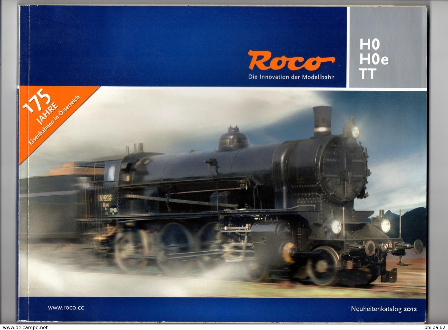 Catalogue Roco 2012. 142 Pages. Modèles Réduits Ferroviaires. HO, HOe, TT. - Books And Magazines