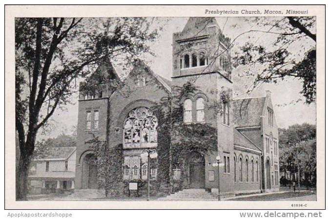 Missouri Macon Presbyterian Church Curteich