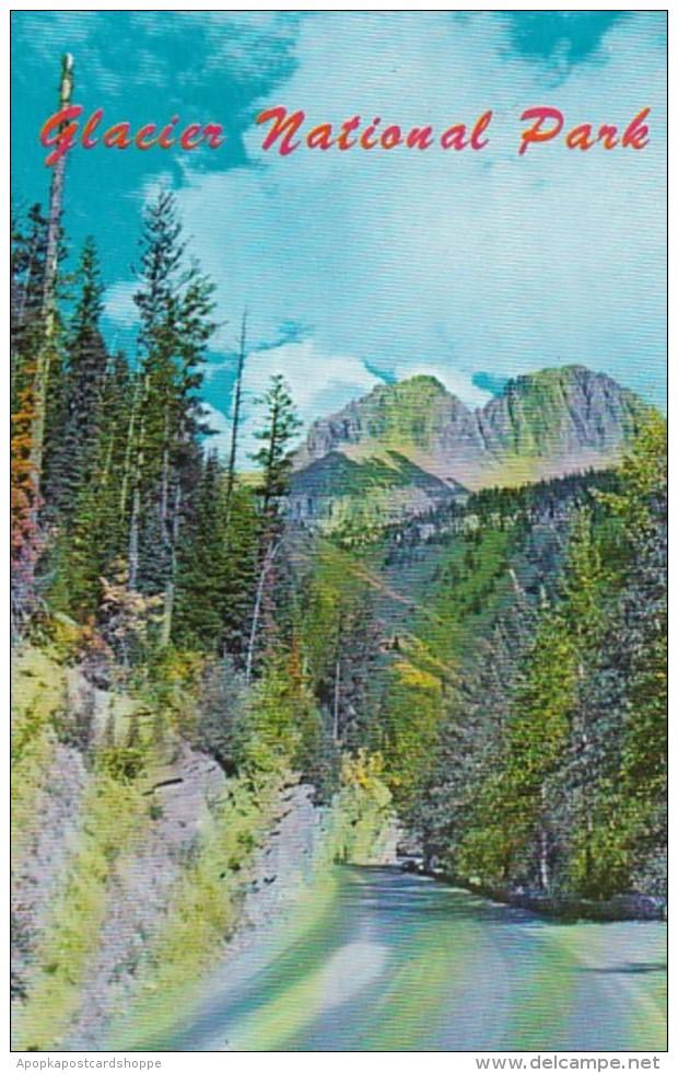 Montana Glacier National Park Highway Scene 1975