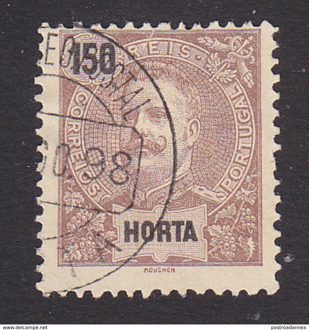 Horta, Scott #30, Used, King Carlos, Issued 1897 - Horta