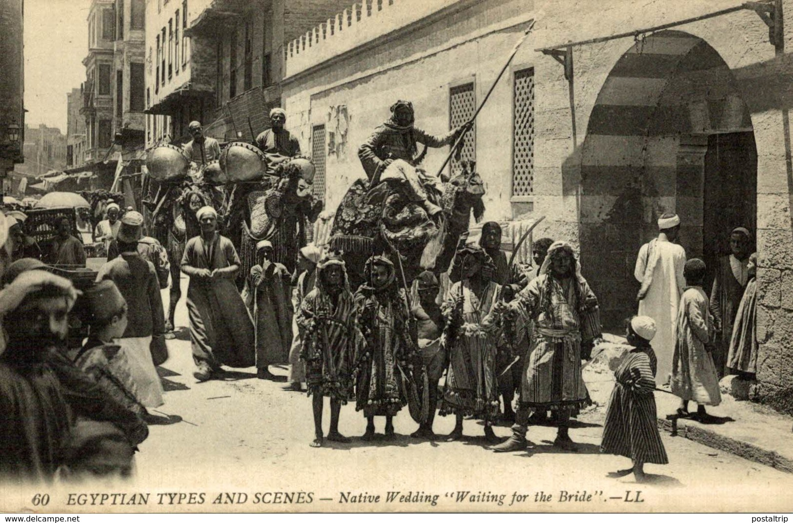 Egyptian Types And Scenes -Native Wedding Waiting For The Bride   LL EGYPT - Egipto