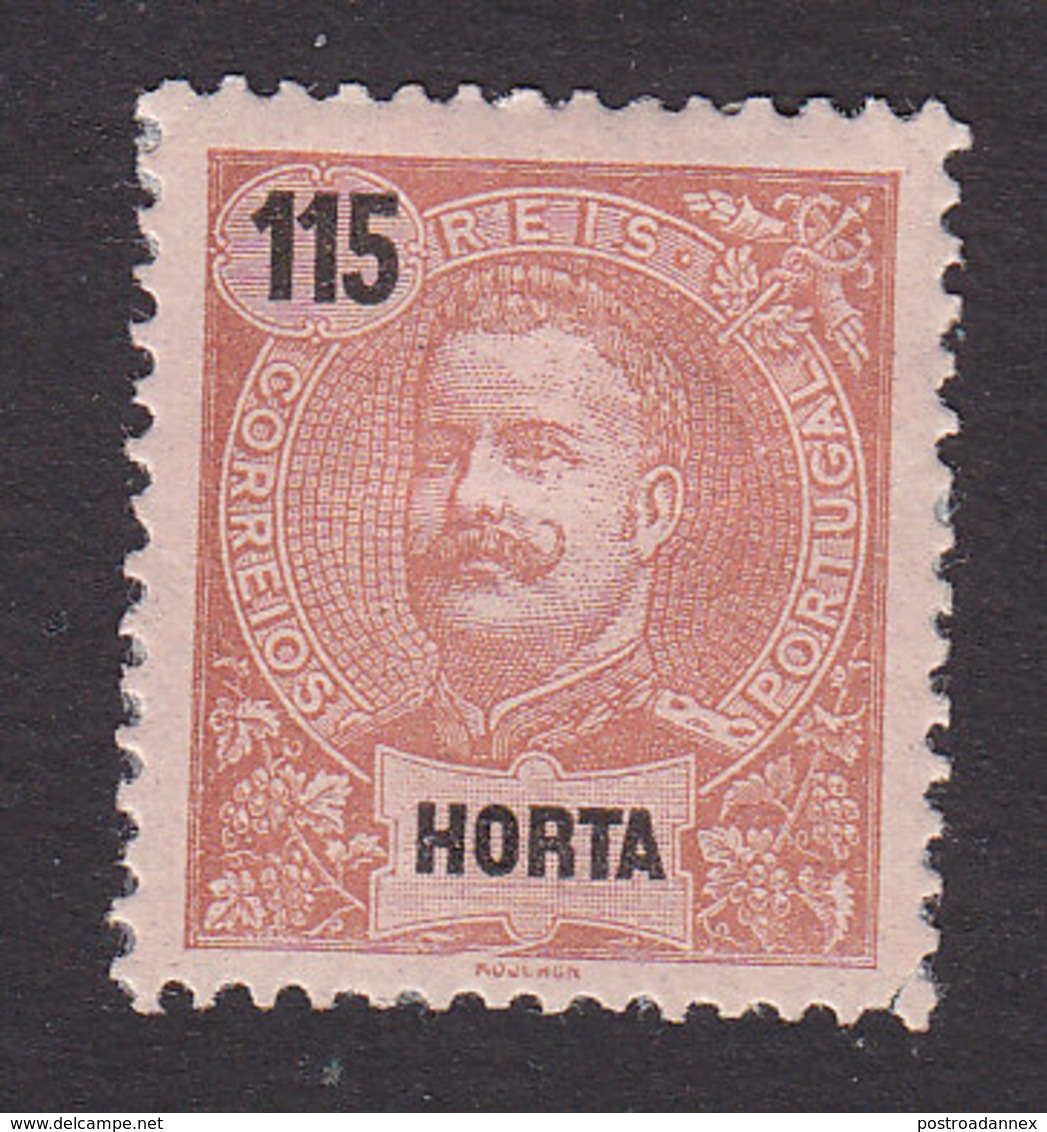 Horta, Scott #28, Mint No Gum, King Carlos, Issued 1897 - Horta
