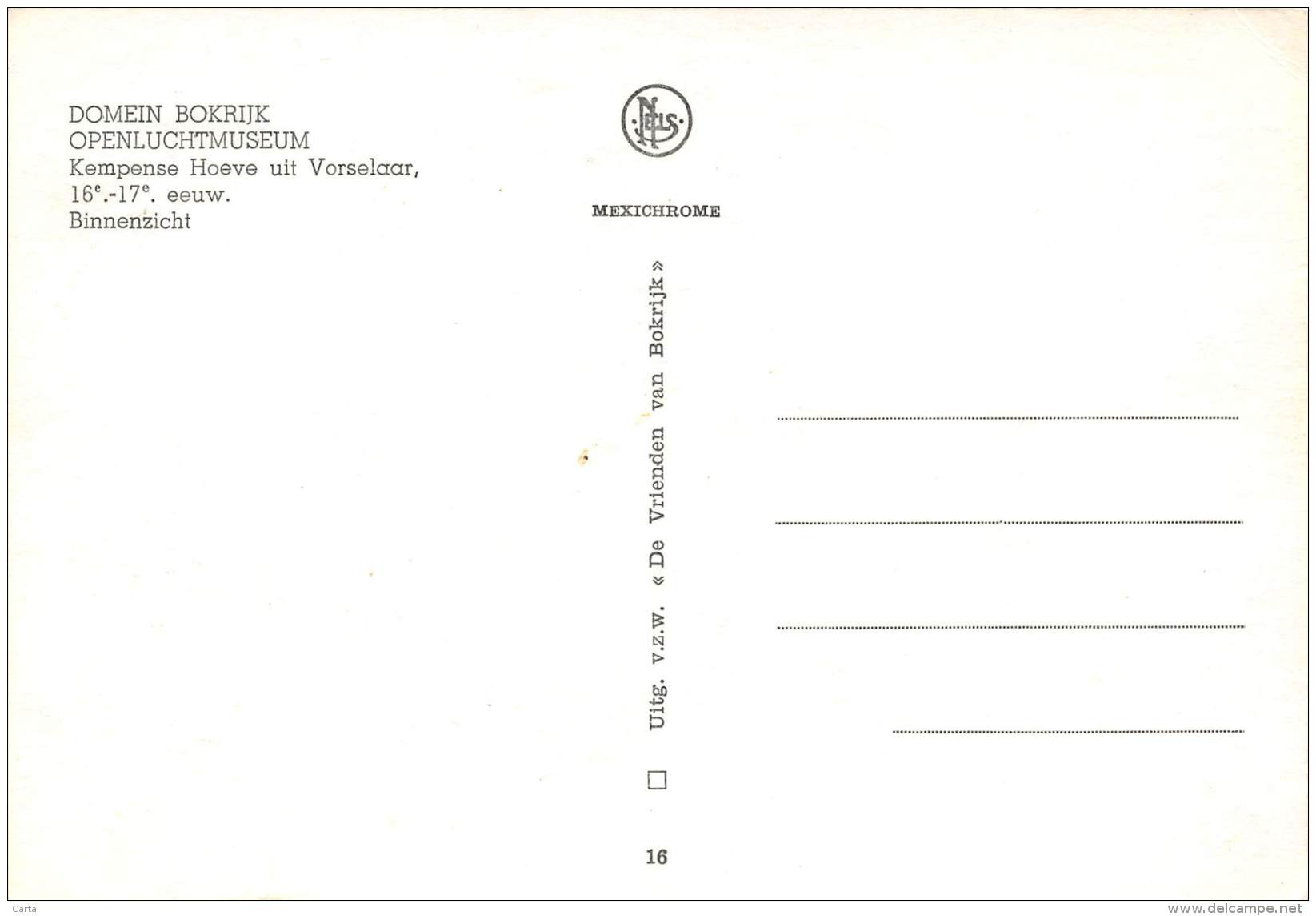CPM - Domein BOKRIJK - Openluchtmuseum - Kempense Hoeve Uit Vorselaar - Binnenzicht - Genk