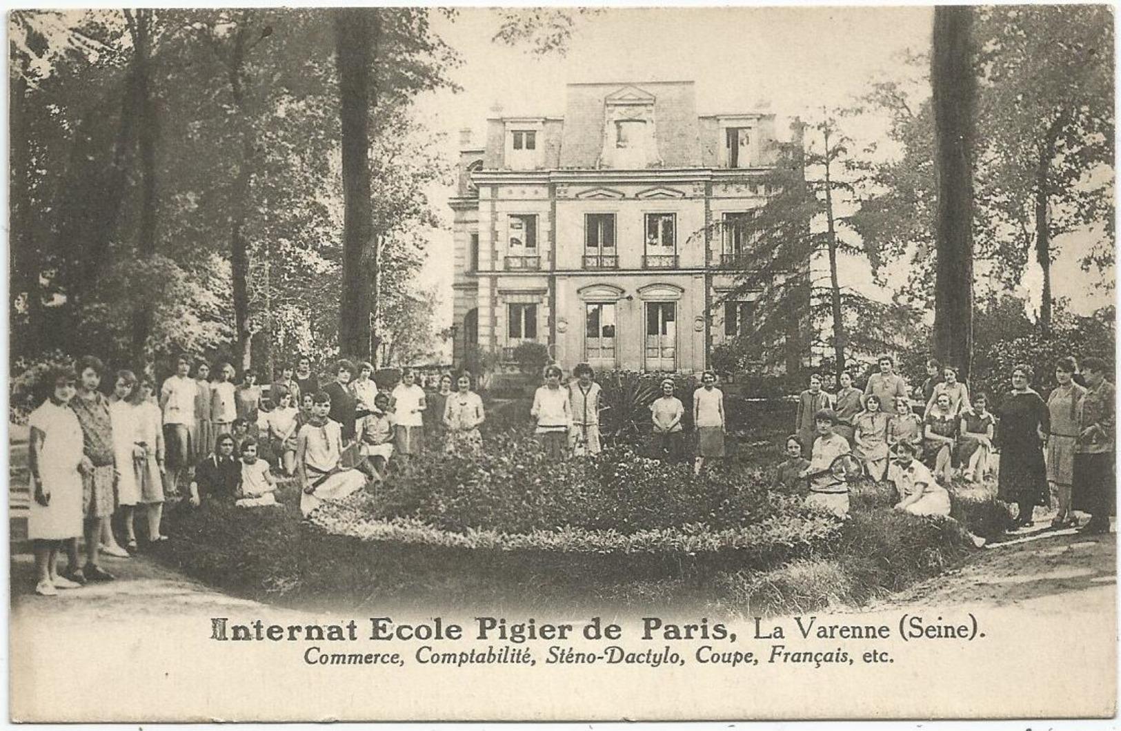 Internat Ecole Pigier De Paris ; La Varenne (Seine) - Commerce , Comptabiliyé , Sténo-Dactylo , Coupe , Français - France