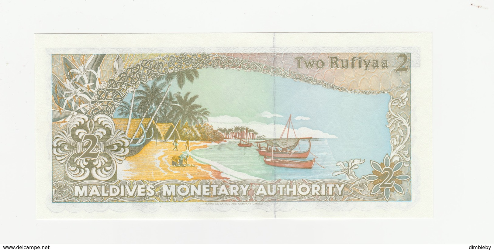 2 Rupien Malediven UNZ - Maldives