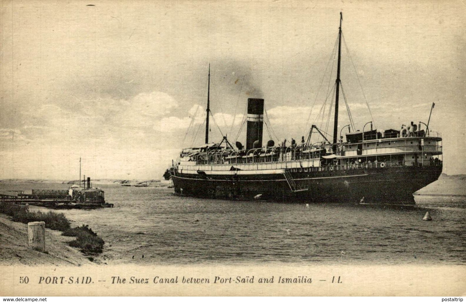 Egypte Egypt - Port Said  - Steamer - Paquebote