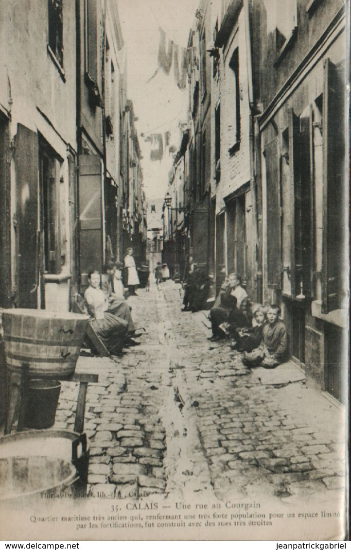 Calais Une Rue A Courgain - Calais