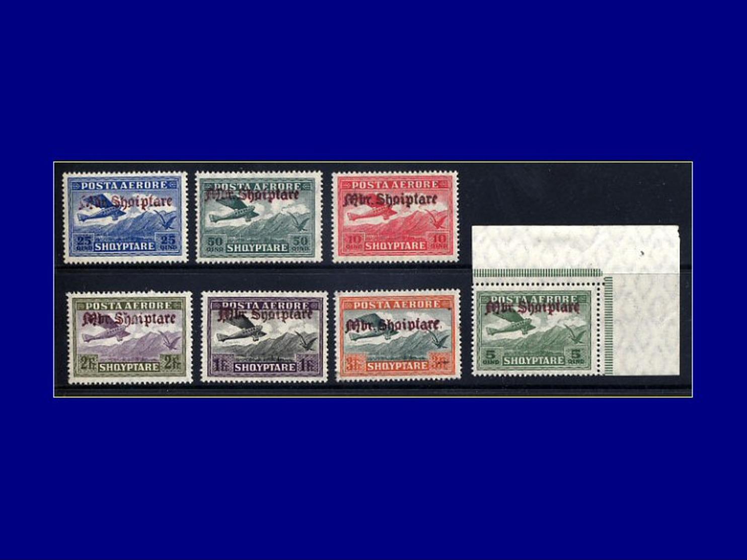 Qualité: XX – 22/28, Surcharge 1929, (le 28 Petit Manque De Gomme En Coin), (Michel = 210/6). Cote: 1700 - Albania