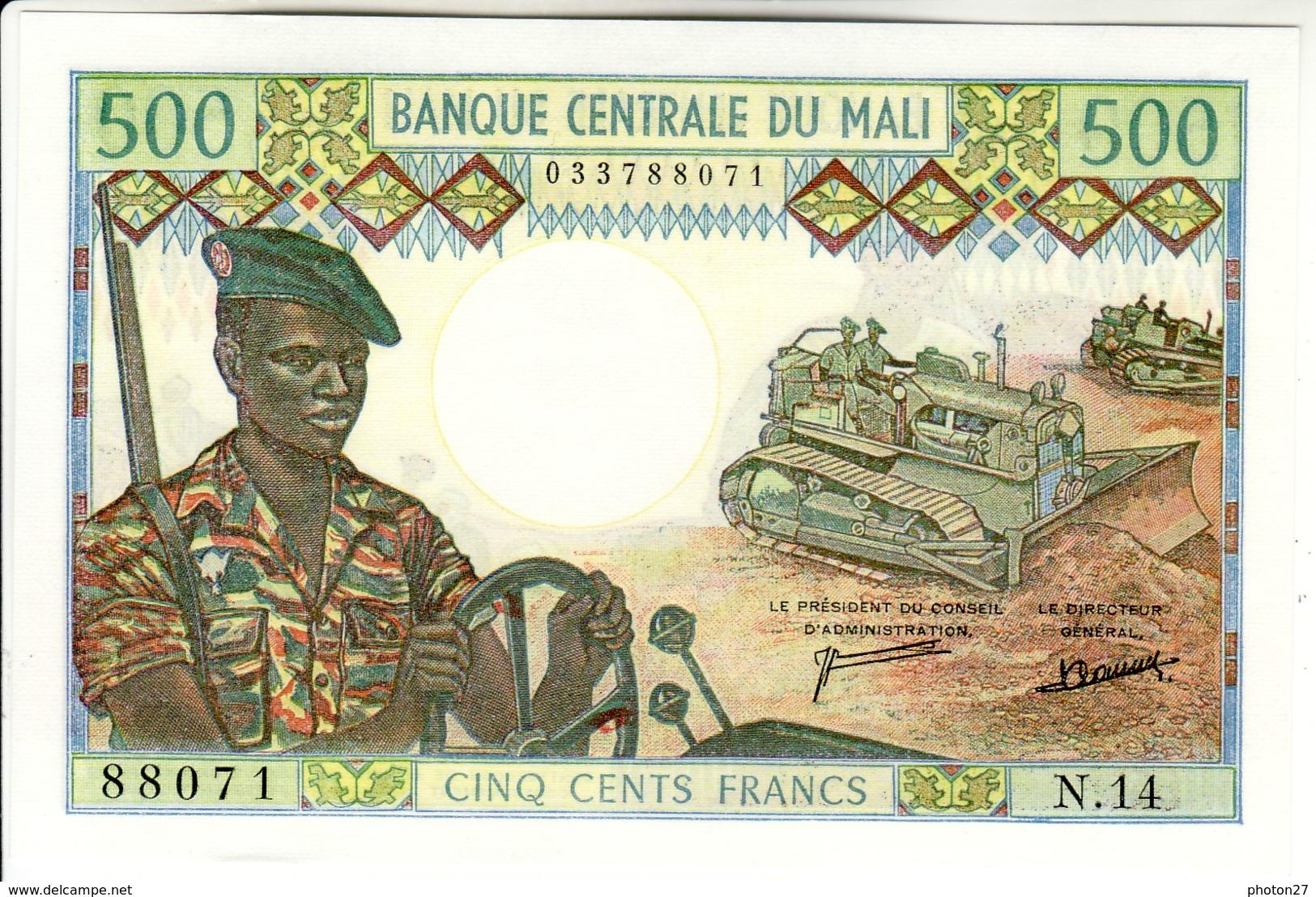 Mali - 500 Francs Type De 1973 - Mali