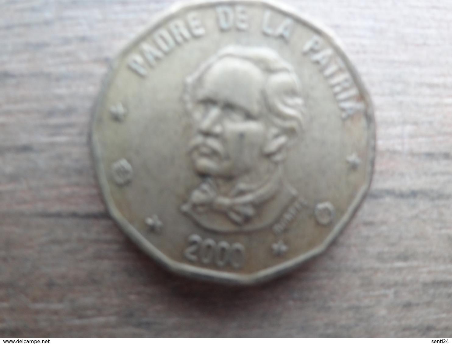 Dominicaine  1  Peso  2000  Km 80 - Dominicaine