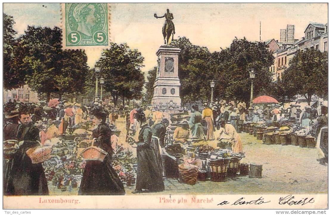 Luxembourg - Place Du Marché (colorisée) - Luxembourg - Ville